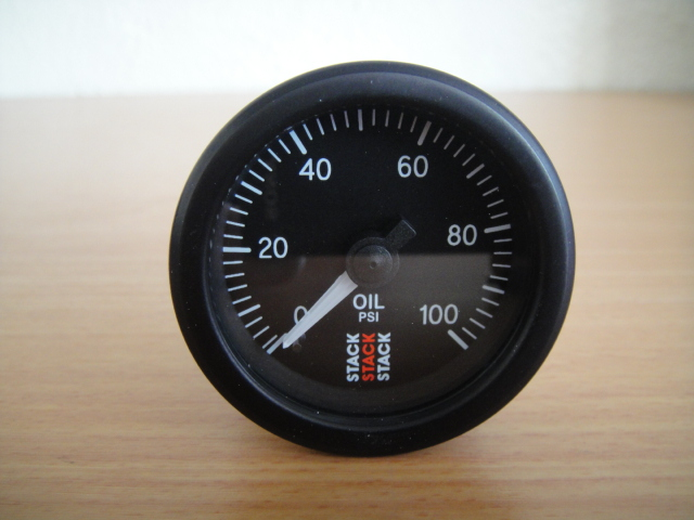 stack mecanical oil pressure gauge
