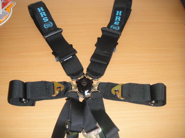 6 point safety harness with lightweight adjusters